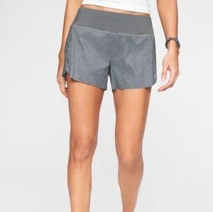 Athleta Laser Run Shorts Lined Gray Size Xl